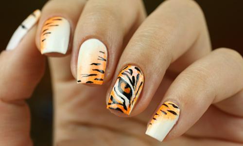Тигровый маникюр
