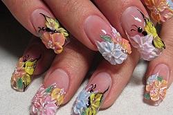 Сакура на ногтях