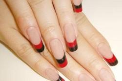 Черно-красный двойной френч