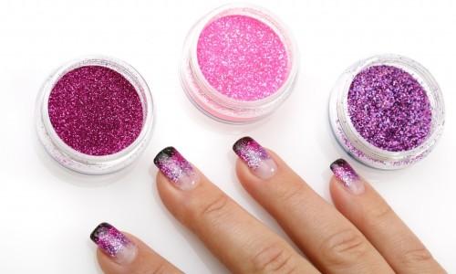 Дизайн ногтей с разноцветными блестками