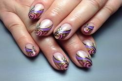 Дизайн ногтей гель фольгой