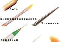 Виды кисточек для маникюра