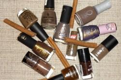 Разнообразие коричневых лаков для ногтей