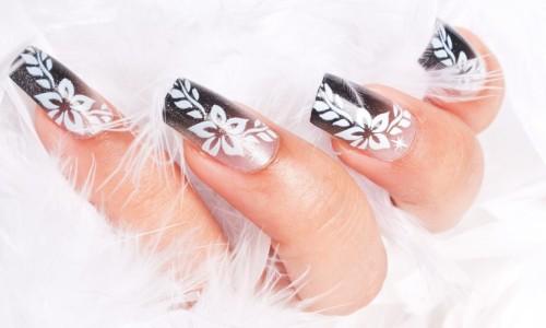 Красивый маникюр на длинных ногтях