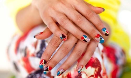 Маникюр мозаика на ногтях