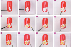 Исполнение маникюра с цветами