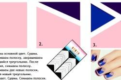 Технология нанесения на ногти геометрических узоров при помощи трафарета