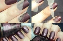 Дизайн ногтей с помощью скотча