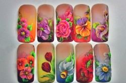 Примеры лепки на ногтях