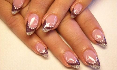 Рисунок на ногтях выполненный лаком