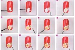 Техника рисования цветка иголкой