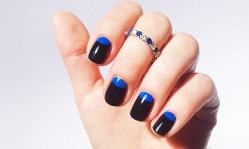 Фото накрашенных ногтей двумя цветами