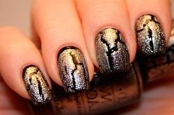 Дизайн ногтей с кракелюром