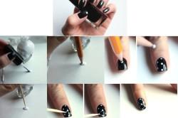 Нанесение точек на ногти