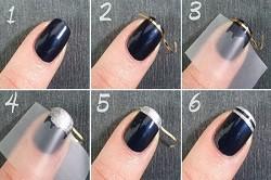 Ногти в полоску