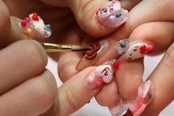 Объёмный дизайн ногтей