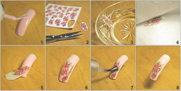 Как использовать наклейки на ногти