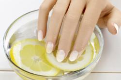 Ванночки с лимонным соком