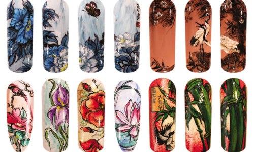 Акварельный дизайн ногтей