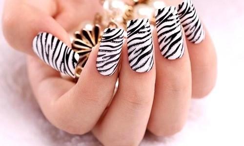 """Дизайн ногтей """"Полоски зебры"""""""