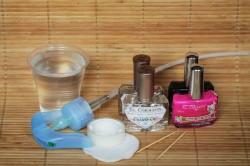 Инструменты и материалы для водного маникюра