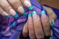 Коррекция ногтевой пластины гелем камуфляж