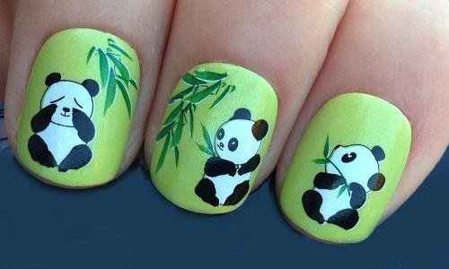 Рисунок на ногти панды 57