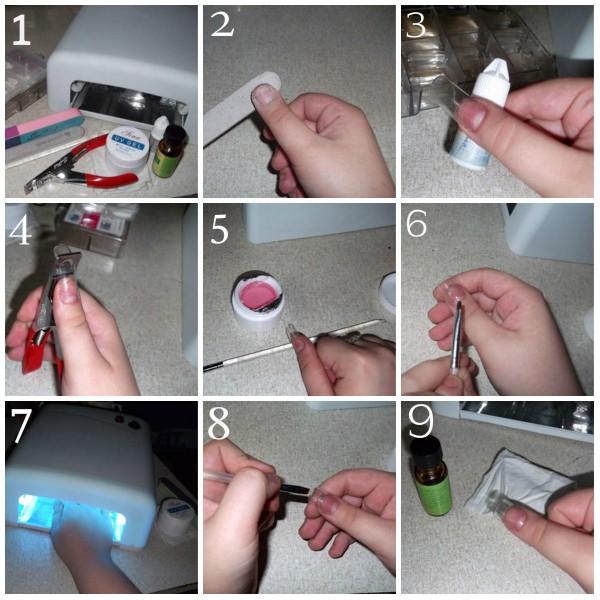 Пошаговое наращивание ногтей гелем на формах видео фото 288-26