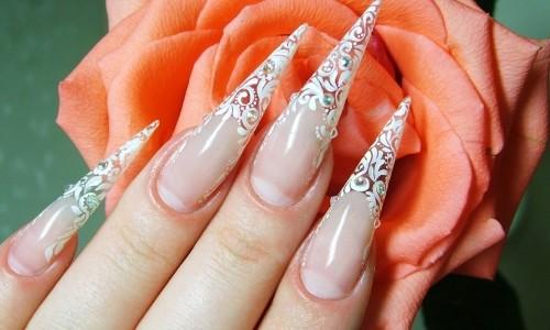 Нарощенные ногти на типсах