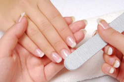 Полировка поверхности ногтя