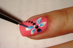 Рисунок 1. Изображение стрекозы на ногте
