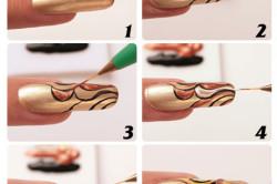 Этапы оформления накладных ногтей