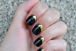 Сочетание черного и золотого лаков