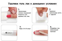 Этапы снятия гель-лака с ногтей