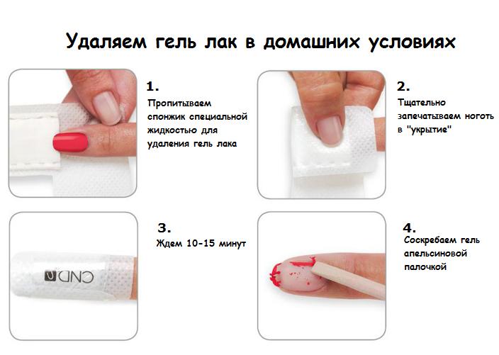 Чем снимается гель лак с ногтей