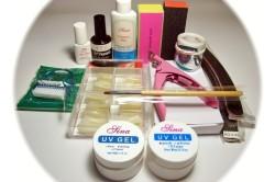 Инструменты и материалы для наращивания ногтей