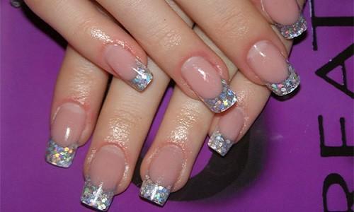 Гелевые ногти когда блестки