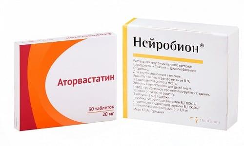 Аторвастатин и Нейробион применяют для снижения холестерина и улучшения состояния при неврологических заболеваниях