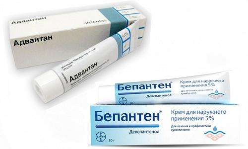 Адвантан и Бепантен применяются наружно при появлении негативных реакций с локализацией симптомов на коже - зуд, покраснение, воспалительный процесс