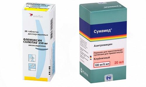 При обнаружении у человека инфекции дыхательных путей часто требуется помощь антибиотиков - Сумамеда или Флемоксина Солютаба