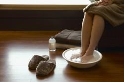 Ванночки для ног для лечения кашля