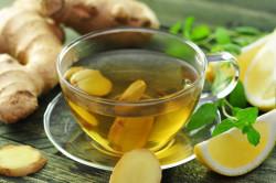 Чай с имбирем и лимоном при простуде