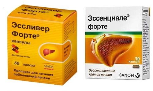 Эссенциале Форте и Эссливер Форте - медикаменты, нормализующие функциональную активность печени и органов пищеварения