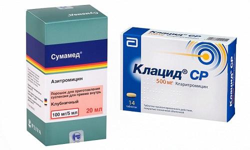 При инфекционных заболеваниях бактериальной природы врачи часто назначают антибиотики из группы макролидов - Клацид или Сумамед