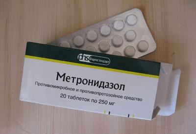 прием метронидазола
