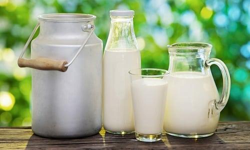 Молочные продукты для больного являются источником кальция