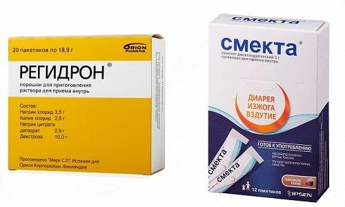 Регидрон и Смекта - эффективные и безвредные медикаменты для лечения отравления и кишечной инфекции