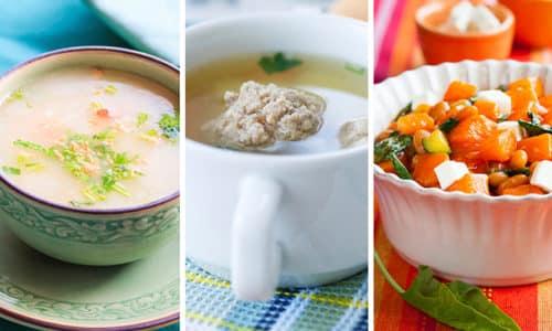 Во время соблюдения диеты полезными будут овощные супы и салаты, и блюда, приготовленные на пару