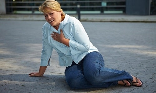 На высокий уровень ТТГ у женщины указывают боли в сердце