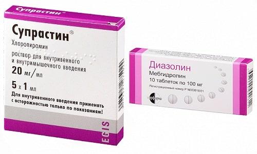 Антигистаминные препараты Диазолин или Супрастин применяются для лечения аллергических реакций и других патологических состояний
